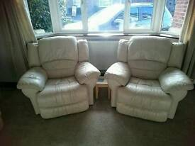 Electronic sofa & 2 electric armchairs + footstool
