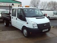Ford Transit T350 Double Cab Tipper 100ps DIESEL MANUAL WHITE (2013)