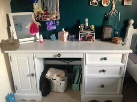 White painted wooden desk