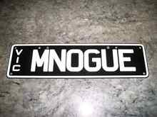MNOGUE Personalised Number Plates. Yarraville Maribyrnong Area Preview