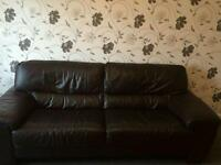 X1 Three seater leather sofa X2 side tables