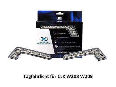 LED Tagfahrlicht + R87 Modul L-Form Mercedes CLK W208 W209 CLS C219 W219 TFL1