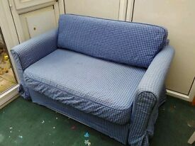 Ikea sofa bed Hagalund - good condition and two covers - only £65.-