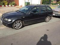 2003 BMW 320D estate 6 speed manual great MPG with MOT