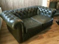 Chesterfield two seater & rocking chair