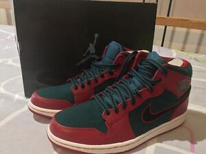 Nike Air Jordan 1 gym red/sea green size 10