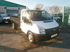 Ford Transit T350 Single Cab Tipper 100ps Euro 5 DIESEL MANUAL WHITE (2014)