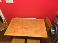 For sale dining table and 4 chairs