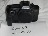 Canon EOS 600 and 1000F 35mm film cameras