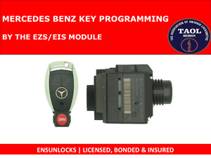 KEY PROGRAMMING MERCEDES BENZ BY THE IGNITION SWITCH -MAIL ORDER