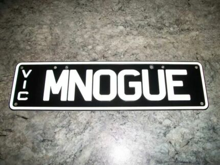 MNOGUE Personalised Number Plates (Victoria) Yarraville Maribyrnong Area Preview