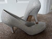 Silver Sparkly Shoes (size 6)