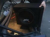 "Juice JS15 1800W 15"" single 4Ω voice coil subwoofer with box"