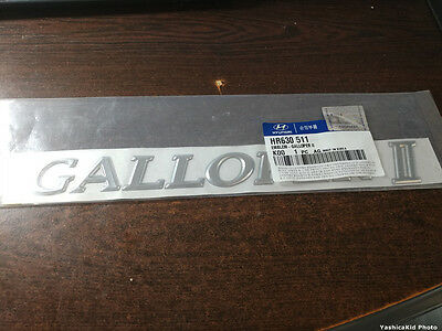 "Genuine Hyundai ""galloper II"" Letter Emblem"