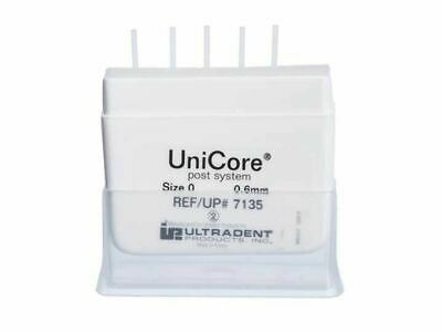 Ultradent Unicore Post And Drill System Post Size 0 0.6mm White 5pk Refill