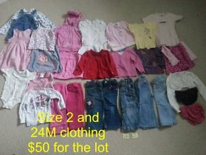 Girl's Sizes 2, 3, and 4 Clothing Items for Sale!