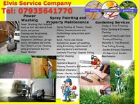 Power Wahing/Spray Painting/Gardening Services/Tree Felling/Sheds and Decks building