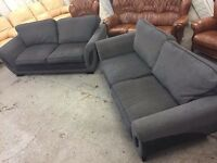 Black and grey sofas