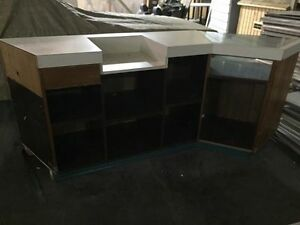 counter top displays and bookshelf