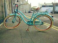 Just in time for Summer: beach cruiser bike, 18'' frame, 26'' wheels