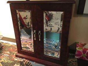 Solid Wood and Mirror Jewelry Box