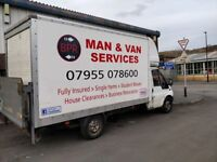 Man and van services, great rates,fully insured