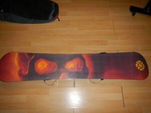 Lamar Snowboard and Bindings with case and tool