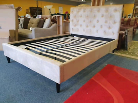 Kingsize bed frame chesterfield style brand new