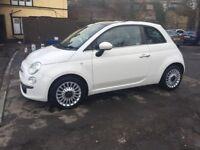 2012 62 FIAT 500 3 DOORS MANUAL LOW MILES - £30 RAOD TAX A YEAR