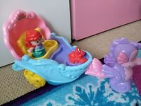 Fisher Price Little People Disney Princess Ariel Carriage