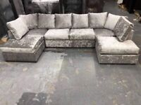 Sale On Brand New U Shape Sofa Available In Corner Or 3+2 Seater Sofa Set Order Now