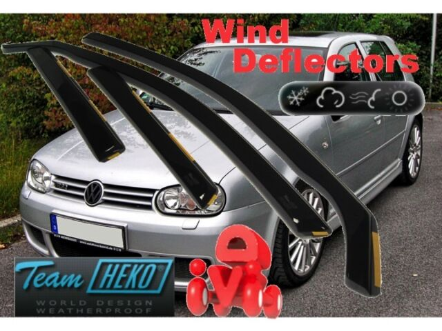 VW GOLF MK4 IV 1997 - 2004  5.doors  Wind deflectors  4.pc  set   HEKO  31132