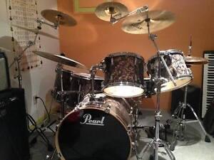 Pearl EXR rare Purple Prizm 6 piece Drum Kit w/Sabian Cymbals