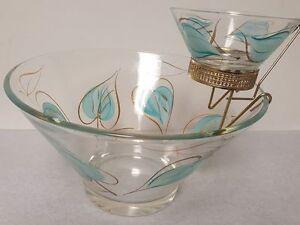 VINTAGE 1950'S CHIP AND DIP BOWL