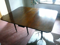 Large Edwardian Drop Leaf Dining Table