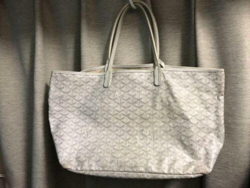 Goyard saint louis pm main sac blanc cuir pvc w/pochette utilisé