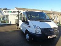 Ford Transit T350 D/Cab Tipper Tdci 100Ps [Drw] Euro 5 DIESEL MANUAL (2014)