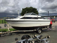 Sealine 18 Weekender powered by Yamaha 80 tilt and trim outboard. Trailer included