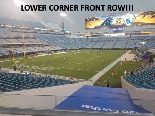 TWO (2) JACKSONVILLE JAGUARS vs MIAMI DOLPHINS 2021  - LOWER CORNER FRONT ROW!!!