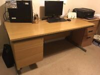 2 Desks, 1 Office Chair, 1 Office Chest of Drawers