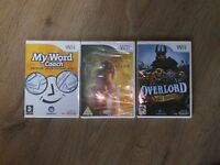 3 x brand new wii games