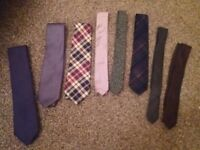 Selection of mens ties (marks and spencers/topman/dunnes)
