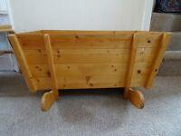 Rocking Wooden Baby Cradle