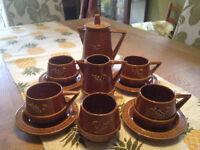 Retro 4 cup coffe service