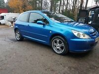 FOR SALE PEUGEOT 307 2.0HDI DIESEL FULL YEAR MOT ONLY 2 PREVIOUS OWNERS