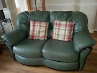 leather Settee & two electric armchairs