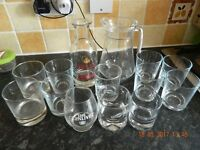 Glass Tumblers and jugs REDUCED