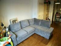 Large grey sofa bed