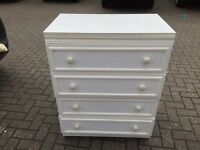 White Chest Of Four Drawers
