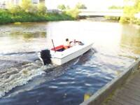 17ft flecther speed boat forsale cheap might SWAP OR